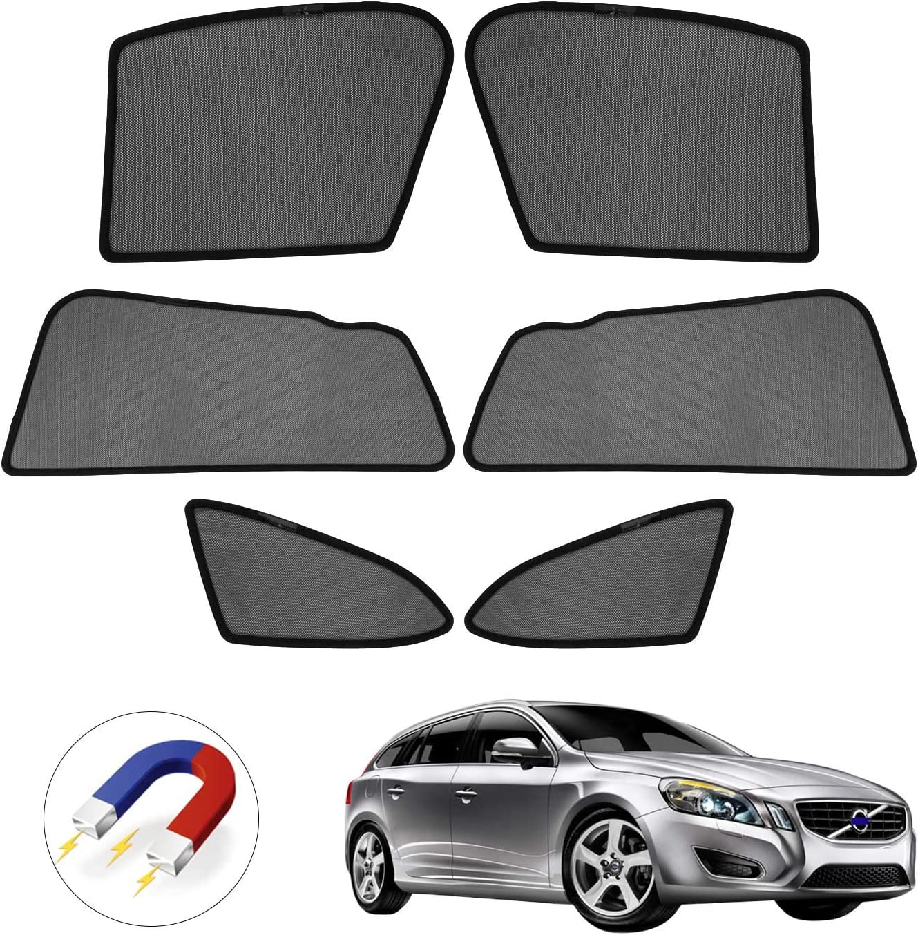 Premis Forester Sun Shade,UV Rays Protection Magnet Window Shade for 2019 Subaru Forester 6 Pack