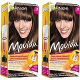 Garnier - Movida - Coloration temporaire sans ammoniaque Châtain - 35 Châtain Lot de 2