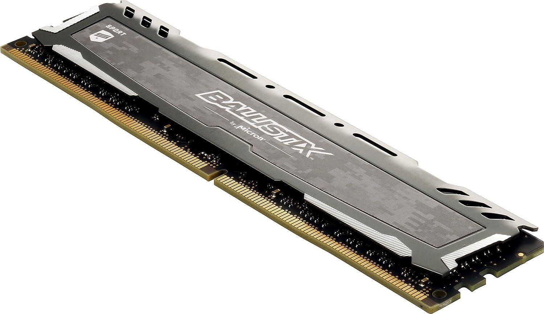 Gray Crucial Ballistix Sport LT 3200 MHz DDR4 DRAM Desktop Gaming Memory Kit 32GB CL16 BLS2K16G4D32AESB 16GBx2