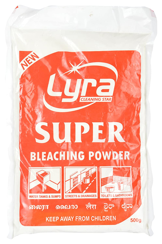 Bleaching powder for cleaning bathroom - Lyra Super Bleaching Powder 500 Ml White Amazon In Health Personal Care