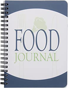 ATDAWN Food Journal/Food Diary/Diet Journal Notebook, 5x7 Inch, 120 Pages, Durable Thick Translucent Cover, Wire-O Binding