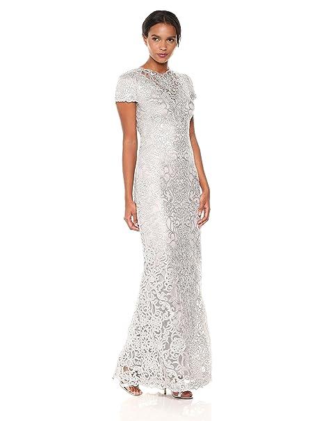 e50bccad2fda Tadashi Shoji Womens Short Sleeve Sequin Lace Gown Dress: Amazon.ca:  Clothing & Accessories