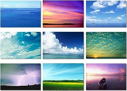 Landscape Sky Air Cloud Nature Motivational Art Wall Print Poster 828