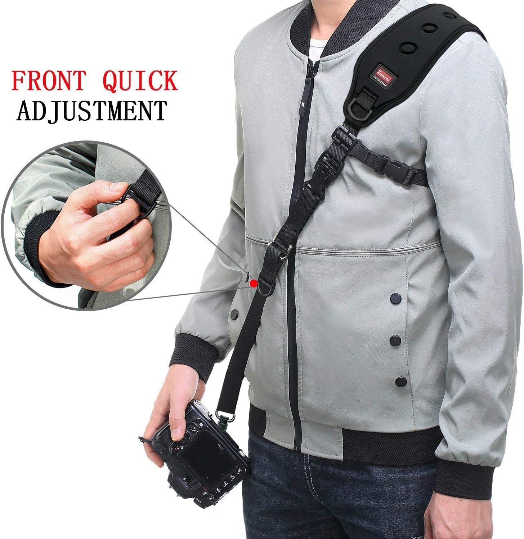 Ztowoto Camera Strap Rapid Fire Shoulder Neck Strap Sling Belt Quick Release and Safety Tether for DSLR SLR Camera