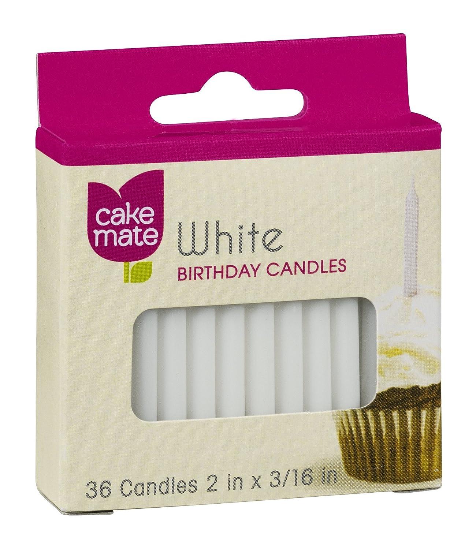 Rainbow Glow Birthday Candles Cake Mate 12 Ct