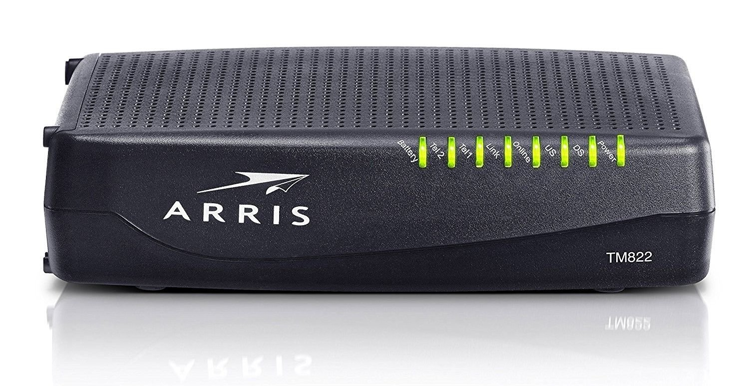 Arris TM822G - DOCSIS 3.0 8x4 Telephony Cable Modem (Certified Refurbished)