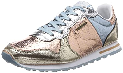 Womens Verona W Sequins Trainers, 327-Factory Pepe Jeans London