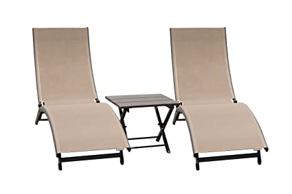 Amazon.com: Vivere corl3-ma Coral Springs Set Tumbonas Y ...