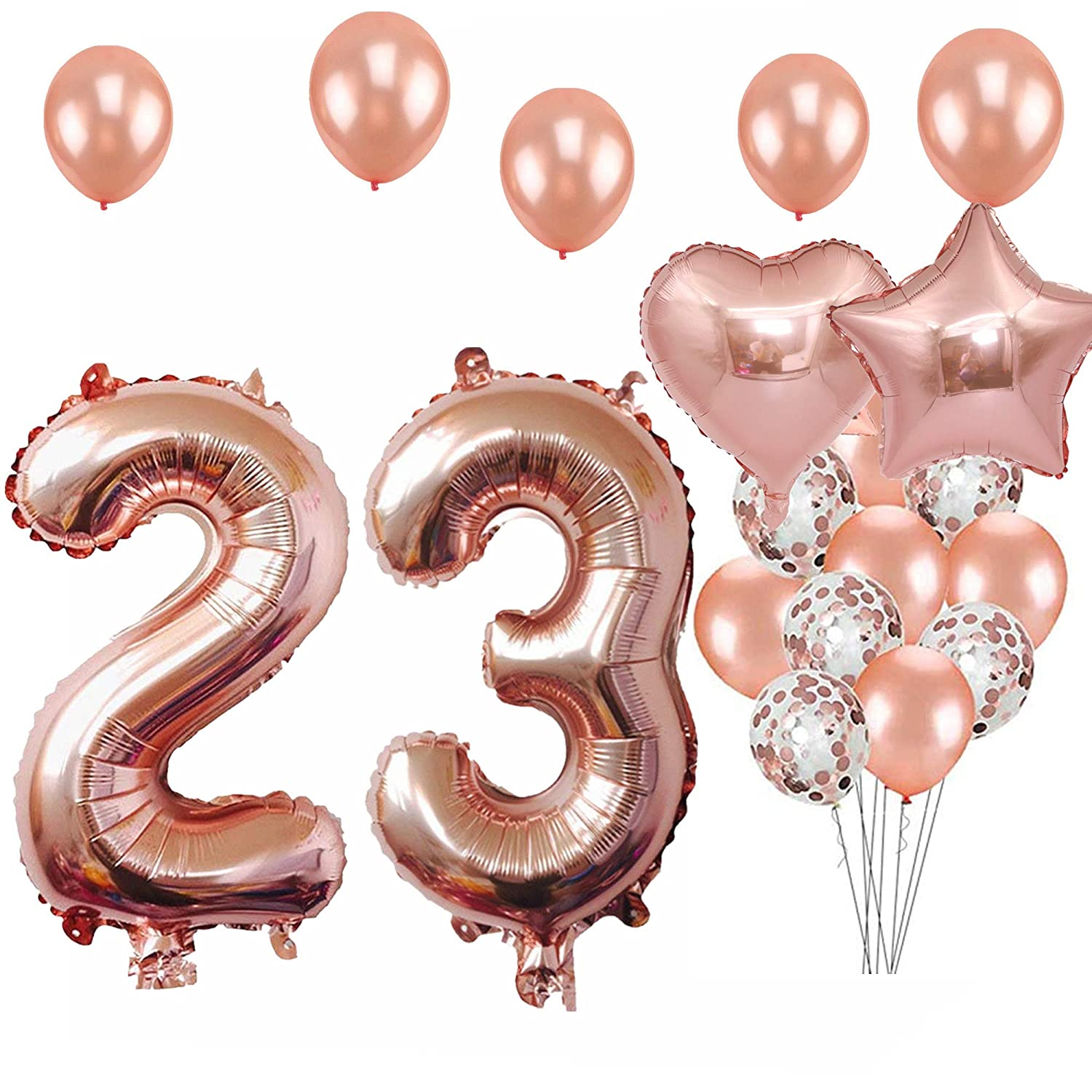 23rd Birthday Decorations Party Supplies Jumbo Rose Gold Foil