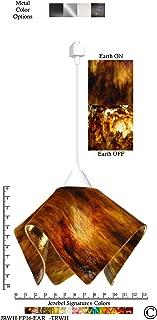 product image for Jezebel Signature Flame Track Lighting Pendant Large. Hardware: White. Glass: Earth