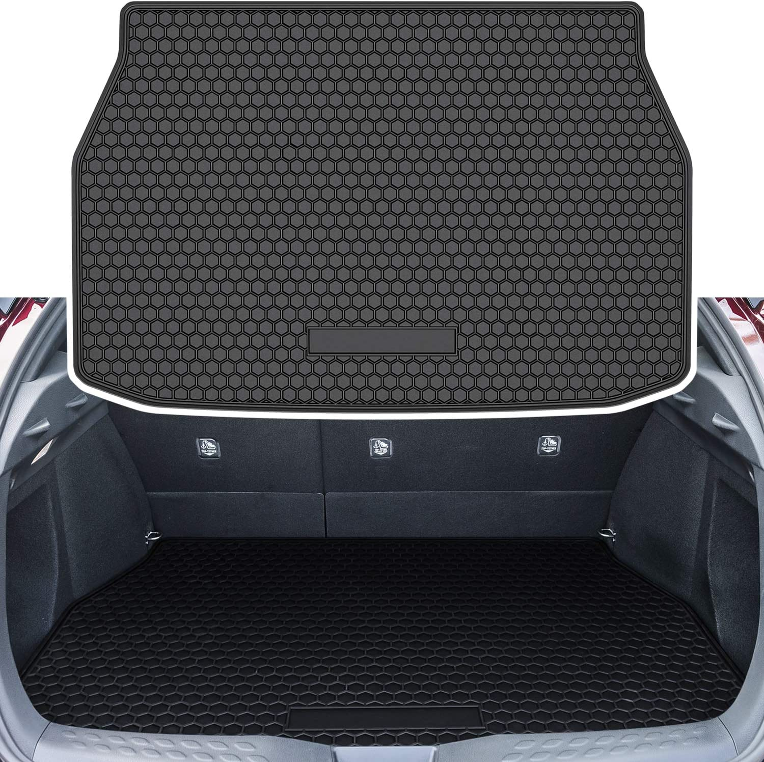 For Peugeot 308 Hatchback 2008/>2013 Black Heavy Duty Quality Boot Tray Liner Mat