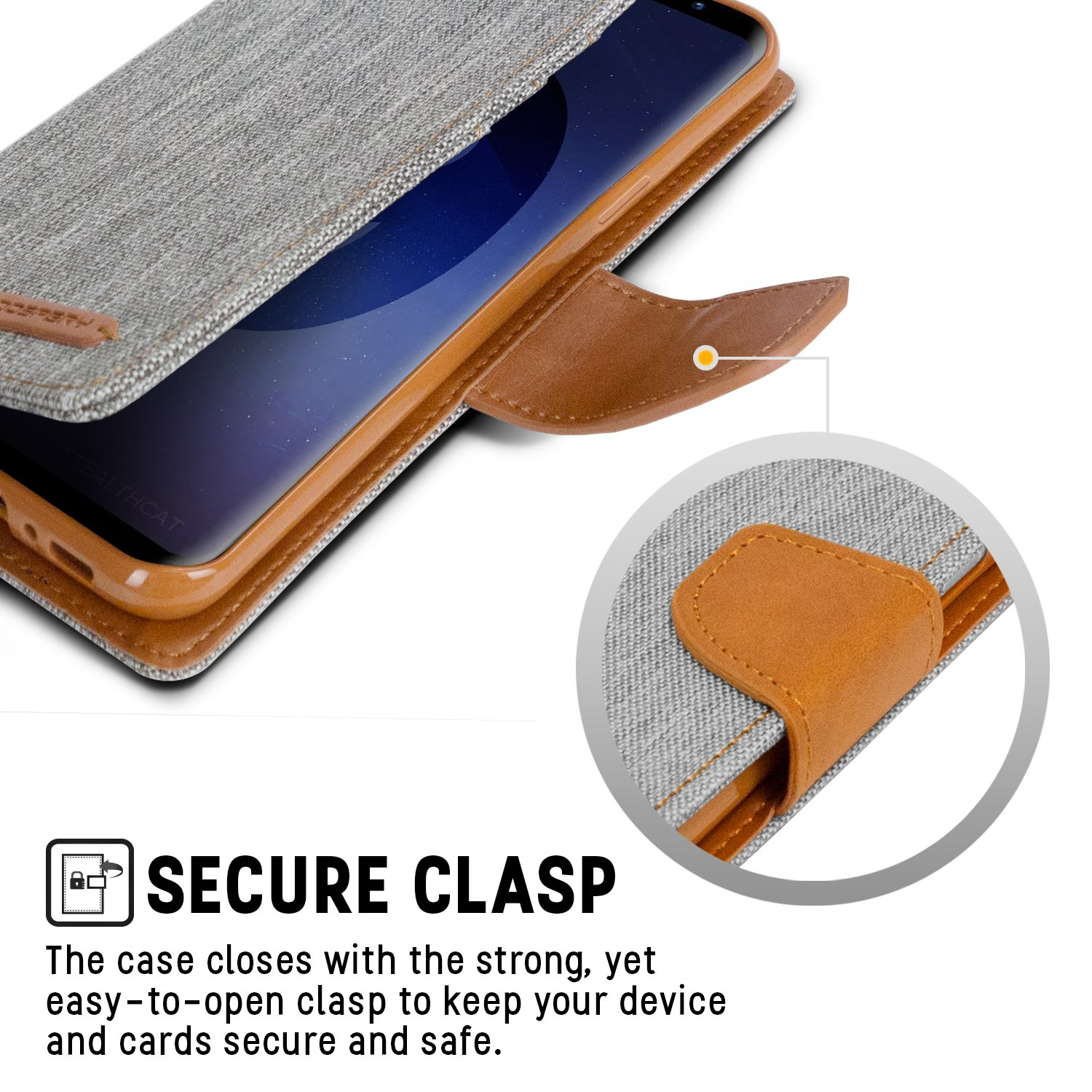 Goospery Galaxy S9 Case For Samsung Drop Iphone 7 Fancy Diary Brown Black Protection Canvas Denim Material Wallet Id Card Cash Slot Stand Flip Cover