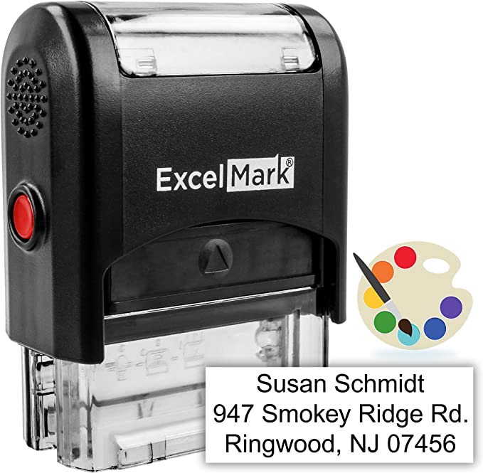 Custom Self Inking Stamp Up To 3 Lines 11 Color Choices And 17 Font Choices