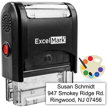 455d8888196f Custom Self-Inking Stamp - Up to 3 Lines - 11 Color Choices and 18 Font  Choices