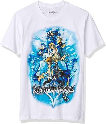 New Men/'s Disney Kingdom Hearts Sora Goofy Donald Duck Kairi Mickey Anime Shirt