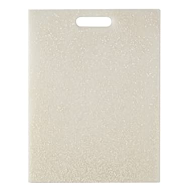 EcoSmart PolyPaper Cutting Board, White, 12  by 16 , Recycled Plastic and Paper, Made in the USA by Architec