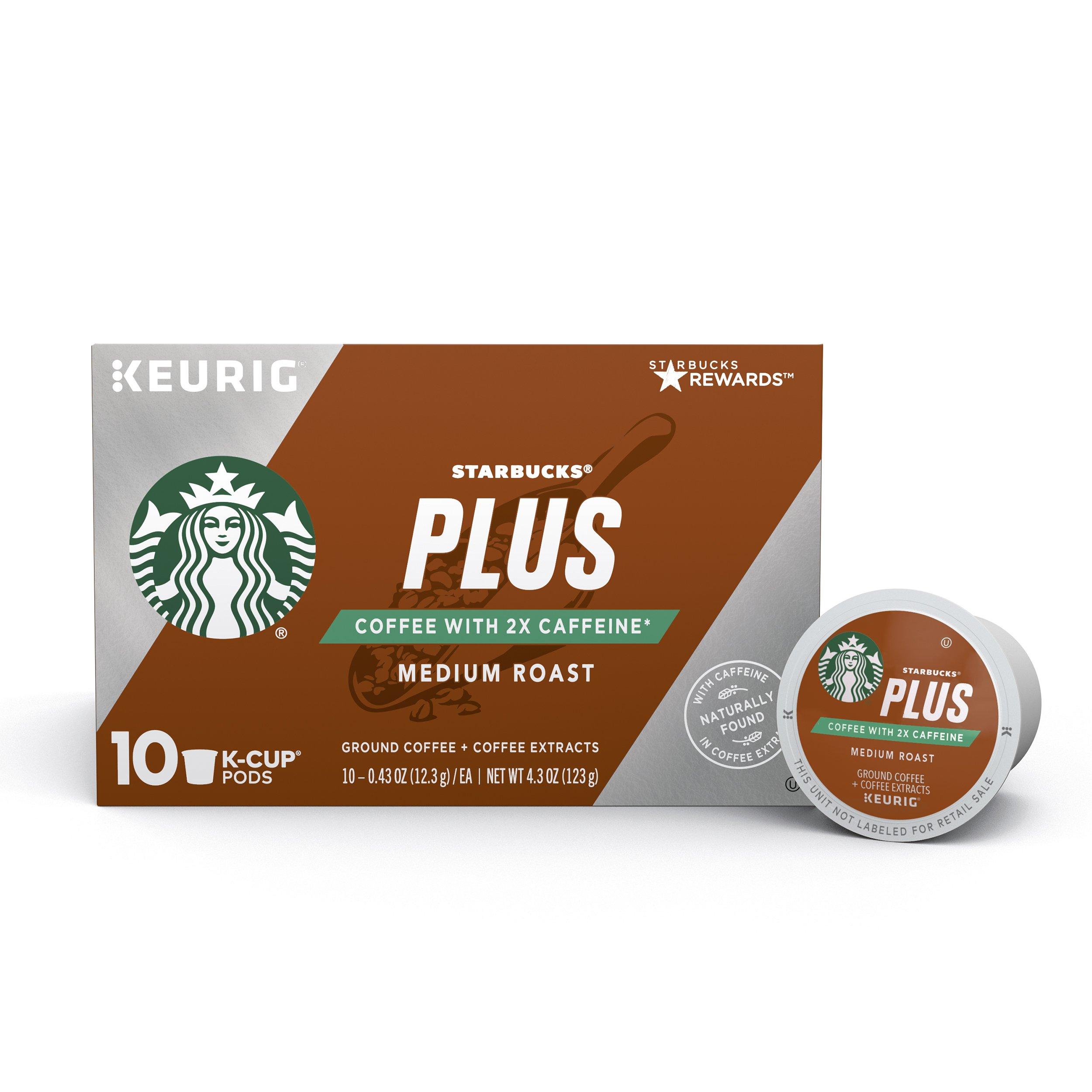Amazon.com : Starbucks Plus Coffee 2X Caffeine Dark Roast Single Cup ...