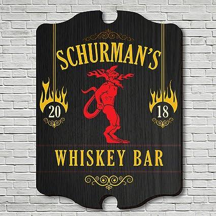 Amazon.com: HomeWetBar Fire Balls Whiskey Bar Custom Sign by ...