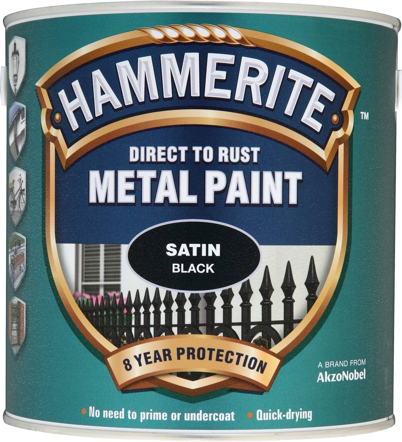 Hammerite 5084904 Metal Paint: Satin Black 250ml Hammerite Products ICI Ltd. B001GU2GLY