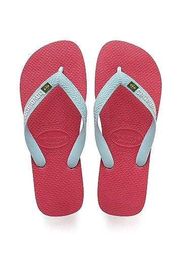 new high quality various design reasonable price Havaianas Unisex Adults' Brasil Logo Flip Flops, Pink (Flamingo 0579), 12.5  UK