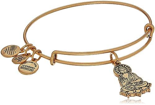 Alex and Ani Buddha Expandable Charm Bracelet, Rafaelian Gold-Tone