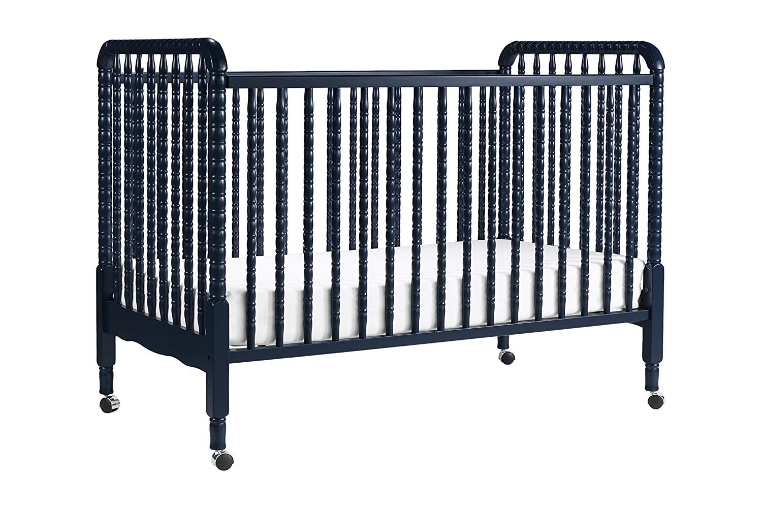 w/ Toddler Bed Conversion Kit in Navy Blue Finish