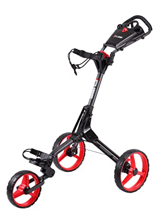 Score Industries Golftrolley Cube Carro de Golf, Unisex, Charcoal y Rojo, estándar: Amazon.es: Deportes y aire libre