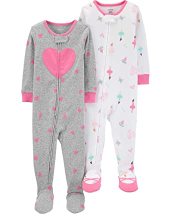 b1e19147e Amazon.com  Carter s Girls  2-Pack Cotton Pajamas  Clothing