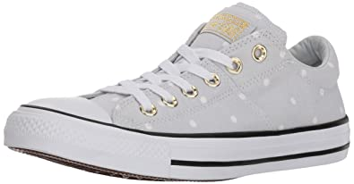 adef5263c1d7d9 Converse Women s Madison Mini Dots Low Top Sneaker Pure Platinum Gold White  5 M