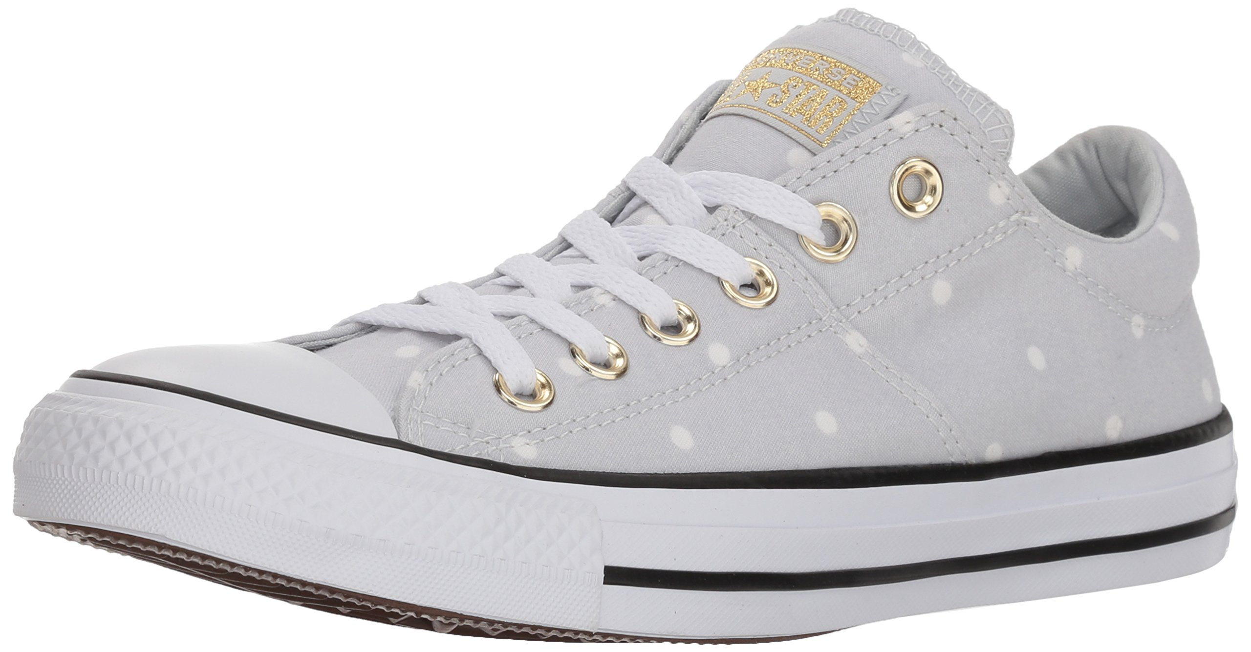 Converse Women's Madison Mini Dots Low Top Sneaker, Pure Platinum/Gold/White, 6.5 M US