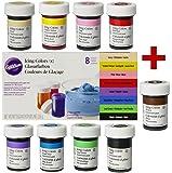 Kit di 8 coloranti alimentari Wilton + EXTRA: Marrone