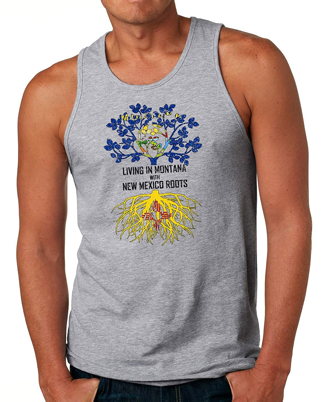 Tenacitee Mens Living in Montana Mexico Roots T-Shirt