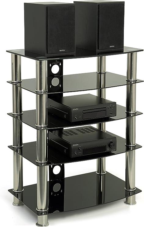 Centurion GTS-6 - Estantería de Cristal y Cromo para Reproductor de DVD, grabadora de vídeo, Receptor de satélite o Equipo de Cine en casa: Amazon.es: Electrónica