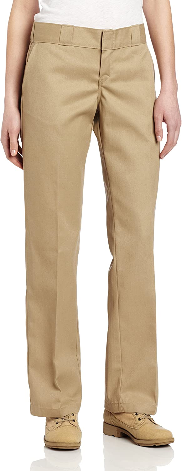 Dickies Women's Original Work Pant with Wrinkle And Stain Resistance: Work Utility Pants: Clothing