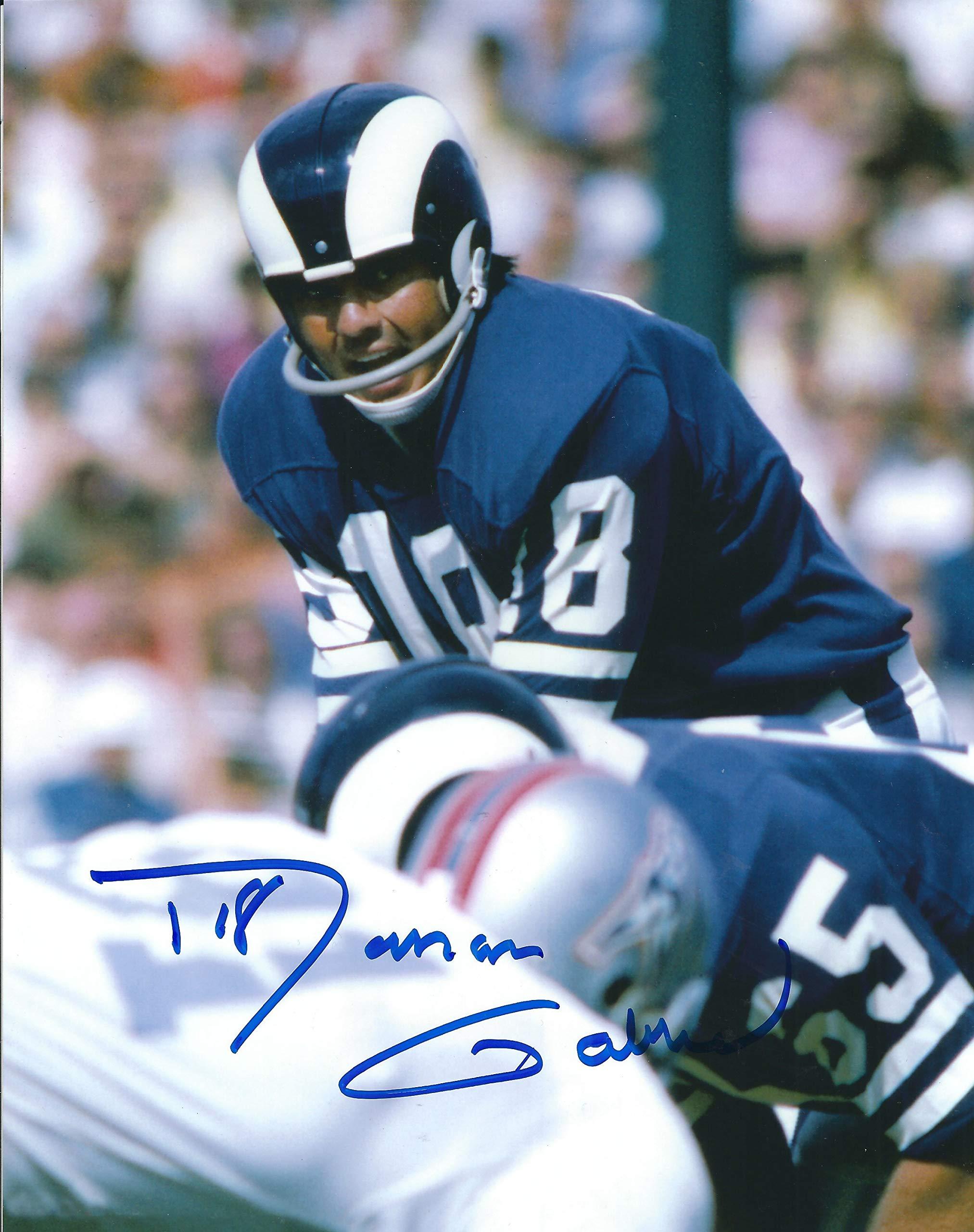 Autographed Roman Gabriel Los Angeles Rams 8x10 Photo W/coa