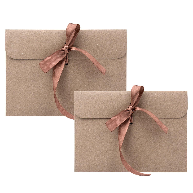 Einladungskarten rot Braunes Band Wolintek Kraftpapier Umschl/äge Retro Kraftpapier Vintage Kraft Briefumschl/äge in Hochwertiger Qualit/ät Kraftkarte Recycelt f/ür Gru/ßkarten 30 St/ück