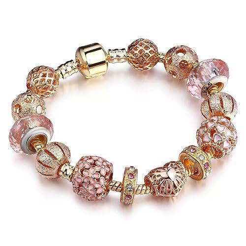 bracciale pandora charm rosa