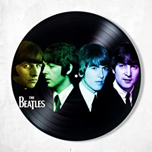 SofiClock The Beatles Decor Vinyl - Unique Wall Art Decor The Beatles Music Band - Best Gift for Music Lover - Original Wall Home Decor