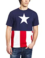Captain America Cut & Sew Applique T-Shirt