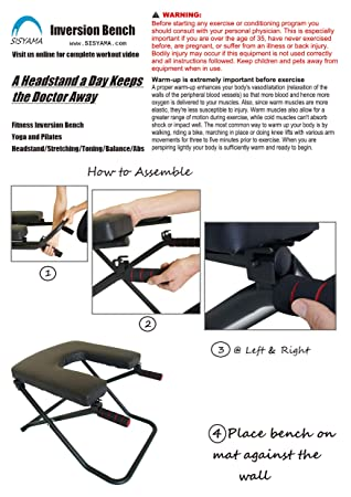 Amazoncom Sisyama Fitness Yoga Chair Inversion Bench Bench