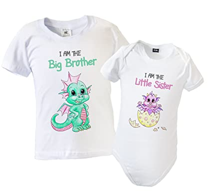 597962c2d Big Brother Little Sister Matching Outfit - T-Shirt   Babygrow with ...