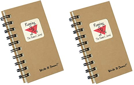 Amazon com : Running Training Log Journal   Set of 2, for