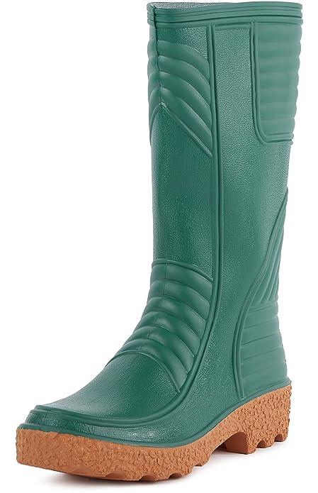Ladeheid Botas de Agua Zapatos de Seguridad Hombre LABN70 (Verde, EU 40)
