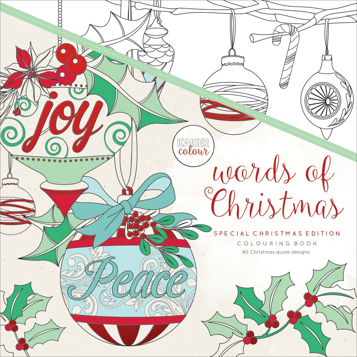 Kaisercolour Perfect Bound Coloring Book 9.75X9.75-Words Of Christmas Kaisercraft CL542