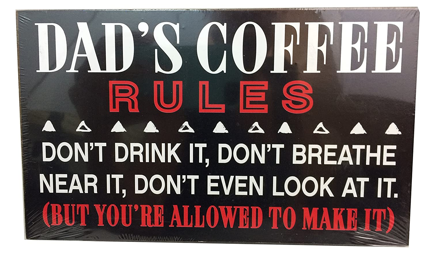 Amazon Dads Rules Fun Quirky Hanging Plaque 8x4 Great