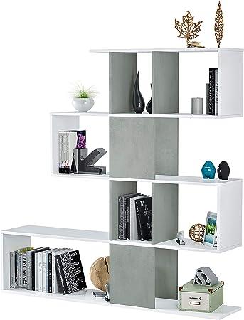 La Estantería / Librería Zig-zag es ideal para almacenar libros, accesorios y documentos tanto en el