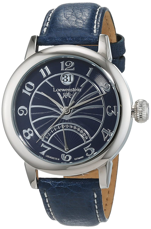 LÖwenstein Herren-Armbanduhr Analog Automatik Leder LO-HQ22006-863BL
