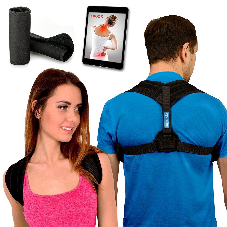Back Posture Corrector - L/XL - Kyphosis Brace - Adjustable Posture Brace - Posture Support for Women and Men - Best Posture Corrector - Figure 8 Brace - Clavicle Brace - No Slouching Or Hunched Back