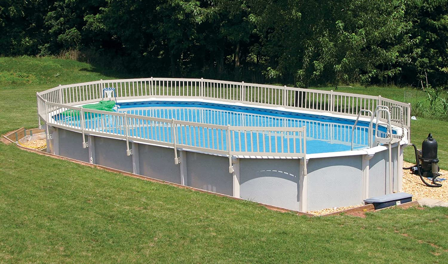 Amazon.com : Vinyl Works 24-Inch Resin Above-Ground Pool Fence kit ...