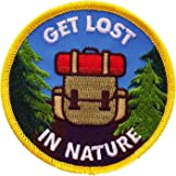 Nature patch - iron on patch for jackets, backpacks, hats, outdoor -patches - Get Lost in Nature